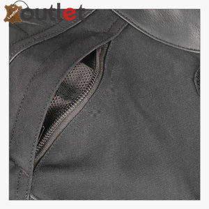 High Quality Textile-Leather Motorcycle Jacket
