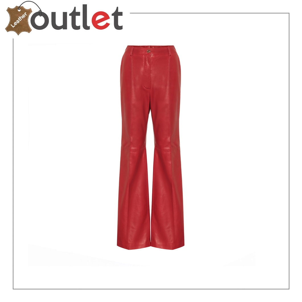 CLASSIC STYLE WOMEN LEATHER PANTS