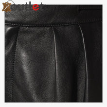 Load image into Gallery viewer, High-rise leather straight pants