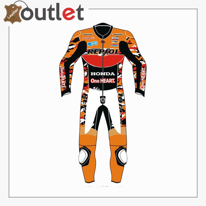 Honda Repsol Motorbike Leather Suit - Leather Outlet