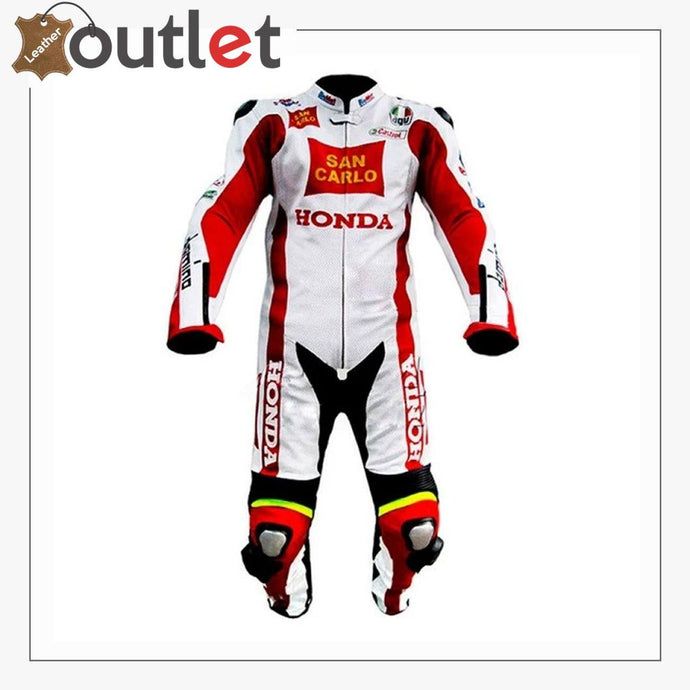 Honda San Carlo 2011 Motogp Leather Suit - Leather Outlet