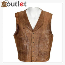Load image into Gallery viewer, Men's Promo Basic Leather Vest (Black, Large)
