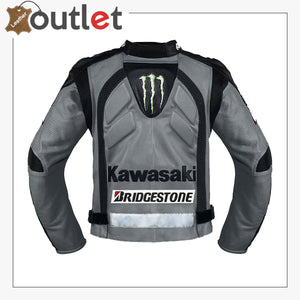 Kawasaki Gray Racing Team Leather Jacket