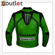 Load image into Gallery viewer, Kawasaki Racing Team Leather Jacket