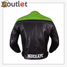 Load image into Gallery viewer, Kawasaki Ninja Theme Motorcycle Leather Jacket