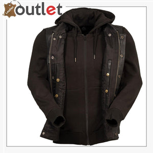 Men Distressed Brown Leather Vest
