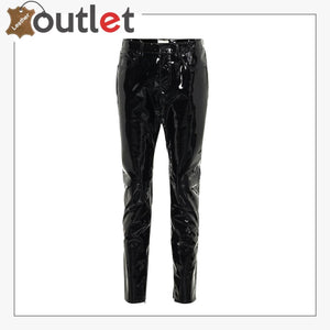 Ladies Patent-leather skinny pants Trouser