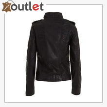 Load image into Gallery viewer, Ladies Womens Classic Black Fashion Soft Nappa Leather Fitted Rock Jacket