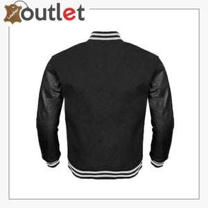 Letterman Sheep Nappa Leather Sleeves Varsity Jacket