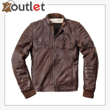Load image into Gallery viewer, Ghom Motorcycle Leather Jacket