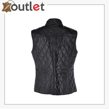 Load image into Gallery viewer, Luxury Diamond Quilted 100% Leather Gilet Vest Waistcoast