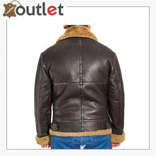 Load image into Gallery viewer, Men B3 Bomber Raf Leather Shearling Jacket