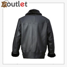 Load image into Gallery viewer, Men Black Aircraft Leather Shearling Jacket