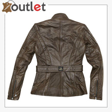 Load image into Gallery viewer, Madrid Ladies Motorcycle Leather Jacket for Womens