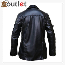 Load image into Gallery viewer, Men Simple Silver Studded Leather Jacket