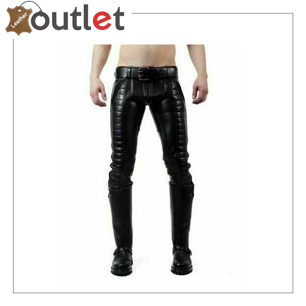 Mens Hot Genuine Leather Pants