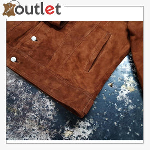 Men's Shirt Suede Leather Jacket