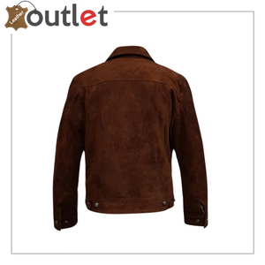 Black Adjustable Collar Casual Shirt Soft Leather Shirt