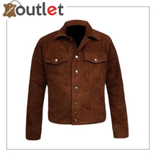 Load image into Gallery viewer, Men's Shirt Suede Leather Jacket