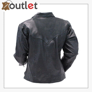 Handmade Men's Black Leather Lace Up Pull Over Leather Shirt