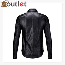 Load image into Gallery viewer, Casual Real Sheep Leather Full Sleeves Police Shirt for Mens