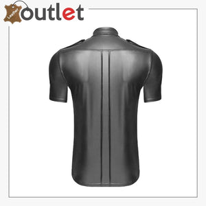 Men's Real Leather Police Uniforms Shirts