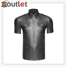 Load image into Gallery viewer, Men's Real Leather Police Uniforms Shirts