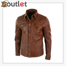 Load image into Gallery viewer, Men's Tan Timber Washed Slim Fit Shirt Jacket