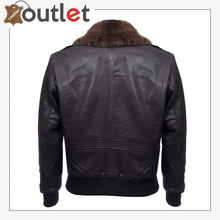 Load image into Gallery viewer, Mens Air Styles Real Leather Flight Bomber Jacket
