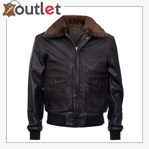 Mens Air Styles Real Leather Flight Bomber Jacket