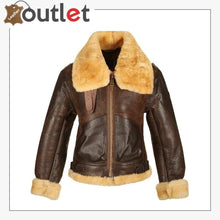 Load image into Gallery viewer, Mens B3 Bomber Brown Real Leather Jacket