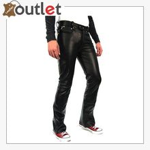 Load image into Gallery viewer, Mens Black Leather Pants