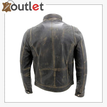 Load image into Gallery viewer, Mens Black Warm Fashion Leather Jacket