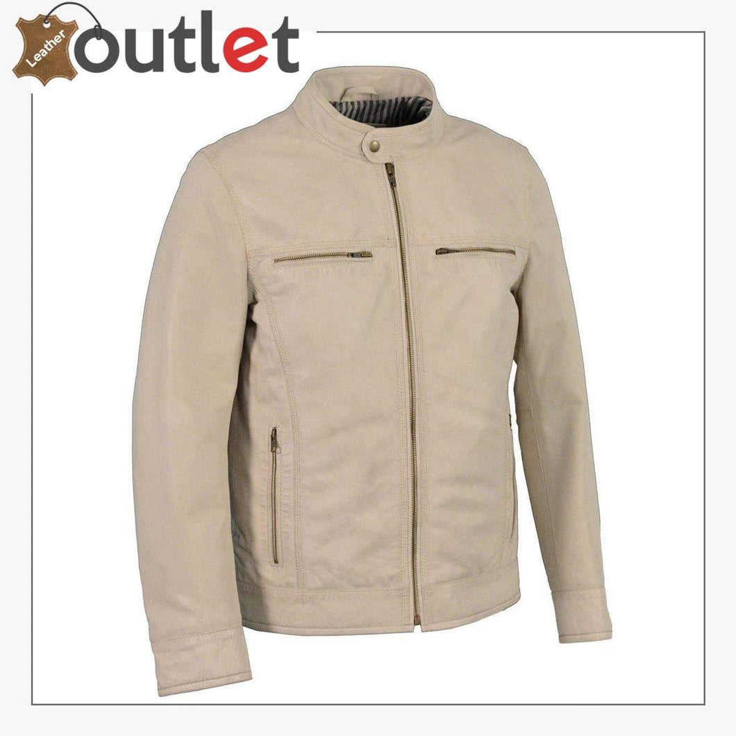 Mens Faux Fashion Leather Jacket Casual Long