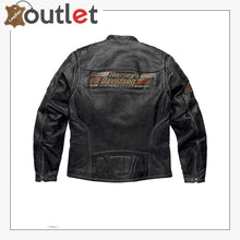 Load image into Gallery viewer, Mens Harley Davidson Classic Motorcycle Leather Jacket