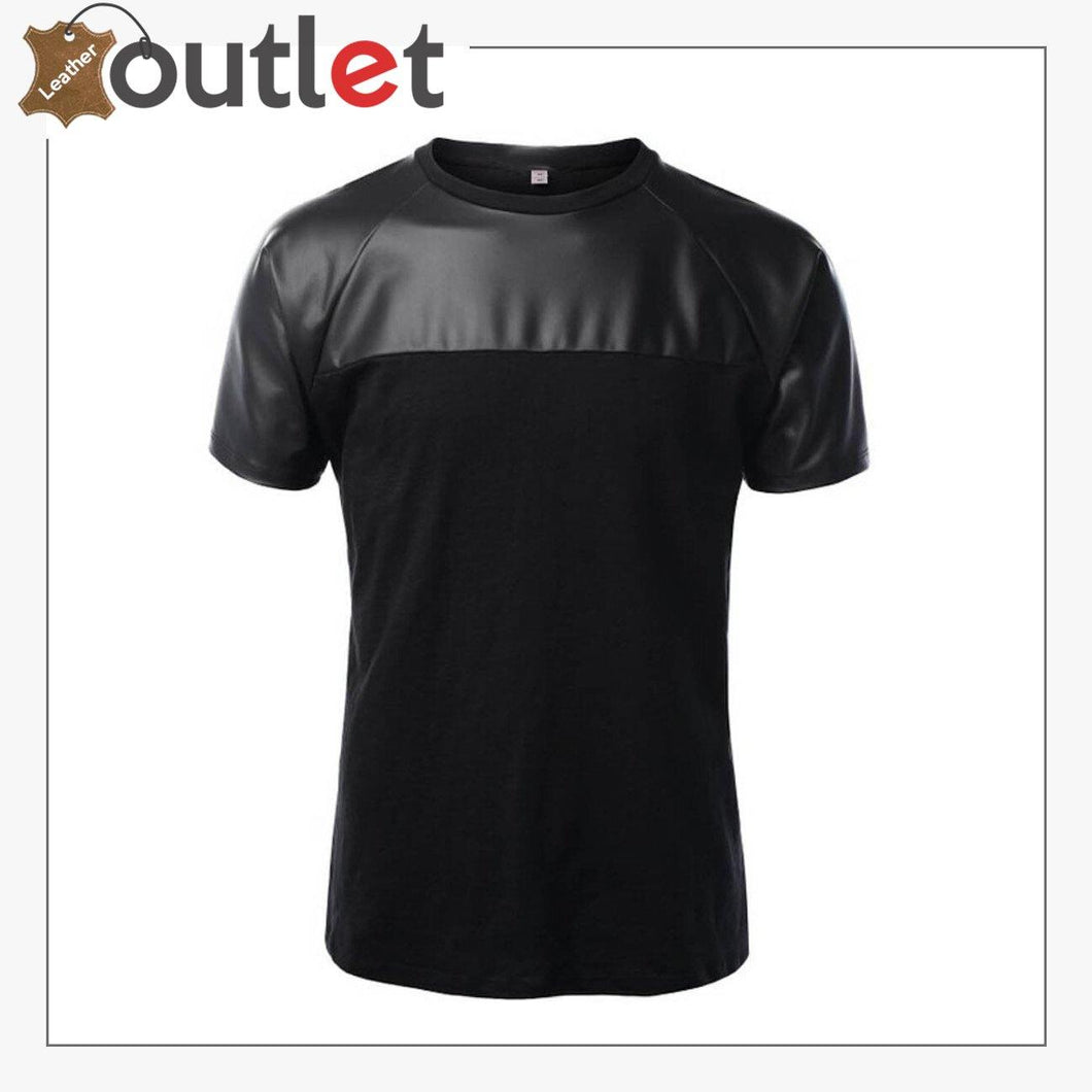 Mens Quality Leather Shirt with Cotton