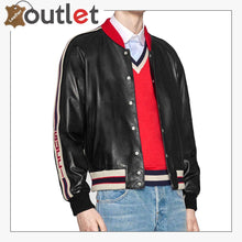 Load image into Gallery viewer, Mens Quality Leather bomber jacket