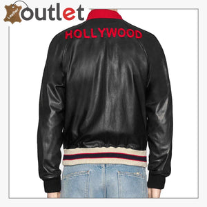 Mens Quality Leather bomber jacket