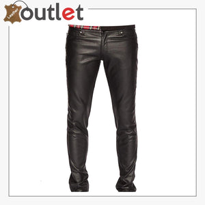 Mens Real Quality Leather Trouser Pants
