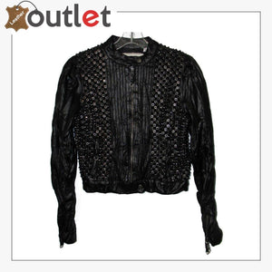Mens Real Quality Spikes Leather Jacket