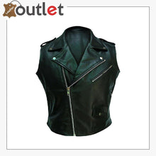 Load image into Gallery viewer, Motorcycle Mens Genuine Leather Biker Vest