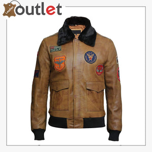 Men's Leather Jacket Genuine Lamb Skin with Detachable Collar