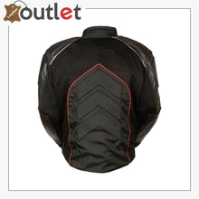 Load image into Gallery viewer, Mesh & Leather Red Body Armor Jacket