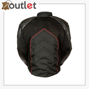 Mesh & Leather Red Body Armor Jacket