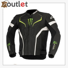 Load image into Gallery viewer, Monster Energy Leather Motorcycle Jacket