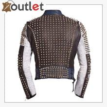 Load image into Gallery viewer, Motorbike Rock Punk Spike Studded leather Jacket