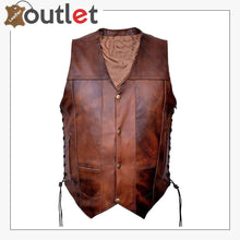 Load image into Gallery viewer, Motorcycle Biker Pure Rider Leather Vest