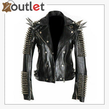 Load image into Gallery viewer, New Handmade Mens Black Fashion Studded Punk Style Leather Jacket