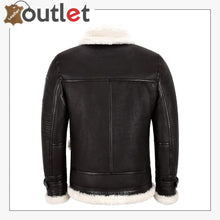Load image into Gallery viewer, New Sheepskin B3 Leather Bomber Jacket Brown For Men