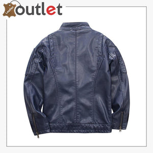 New Simple Studded Leather jacket For Men